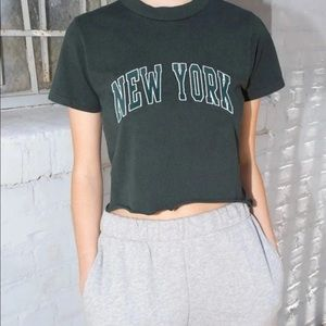 NWT RARE BRANDY MELVILLE CROPPED TEE